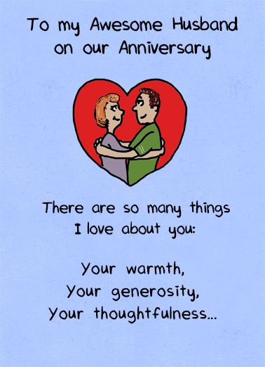 Awesome Husband Anniversary Ecard Cover