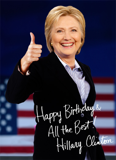 Funny Birthday Ecard Hillary Autograph From Cardfool