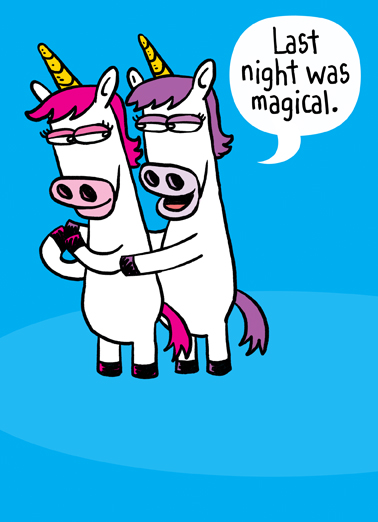 Funny Valentine S Day Card Horny Unicorn From Cardfool Com