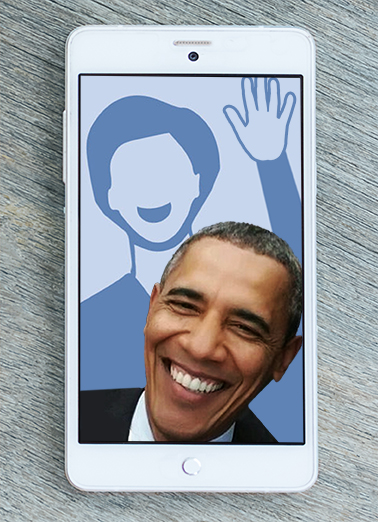 Funny Birthday Card Obama Selfie From Cardfool