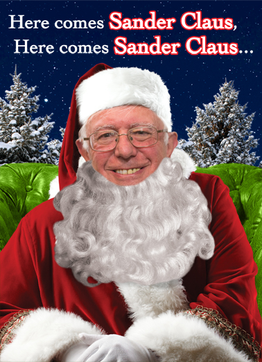 Funny Christmas Card Sander Claus From